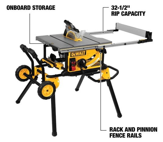 portable size and rolling stand