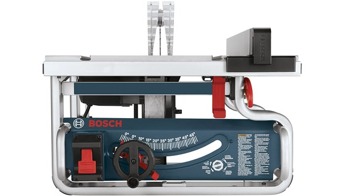 bosch jobsite table saw gts1031 with one-handed carry handle