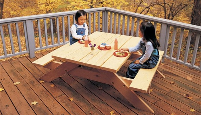 black and decker's diy kids picnic table