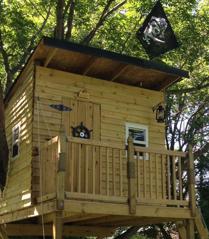 pirate hideout tree house
