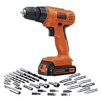 power drill and drill bits