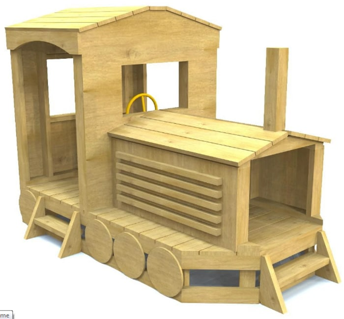 the train playhouse plan